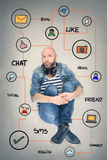 Surrounded by communication stock image