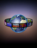 Surrounded Earth. Film Encircled Earth Royalty Free Stock Images