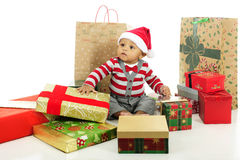 Surrounded by Gifts Stock Photography