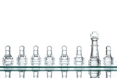 Surrounded king chess, business strategy Royalty Free Stock Photo