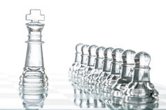 Surrounded king chess, business strategy Royalty Free Stock Photos