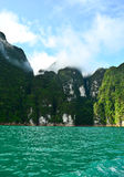 Surrounded by limestone. Green water was surrounded by limestone Royalty Free Stock Photography