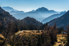 Surrounded by mountains Royalty Free Stock Images