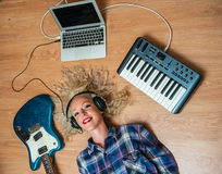 Surrounded by music Royalty Free Stock Images