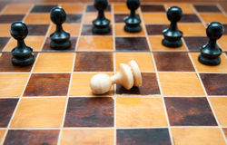 Surrounded pawn Royalty Free Stock Photo