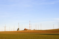 Surrounded by radio waves Royalty Free Stock Images