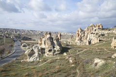 The surrounding area of Goreme january day. Cappadocia Stock Image