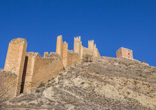 Surrounding city walls and tower of Albarracin Stock Image