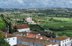 The surrounding countryside, Obidos, Portugal Stock Photography