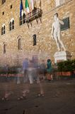 Surrounding David, Florence Stock Photo