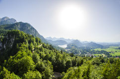 Surrounding of Neuschwanstein castle Stock Images