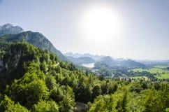 Surrounding of Neuschwanstein castle Stock Images