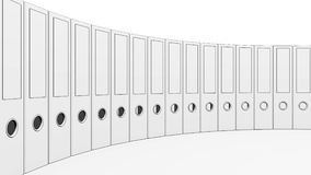 Surrounding office binders. 3D rendering. Surrounding office binders row. 3D rendering Royalty Free Stock Image