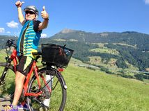 Surrounding the Rigi by bike royalty free stock image