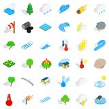 Surrounding space icons set, isometric style. Surrounding space icons set. Isometric set of 36 surrounding space vector icons for web isolated on white Stock Photography