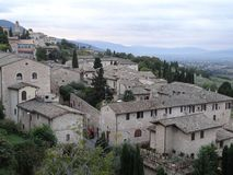 Surrounding View of Assisi Royalty Free Stock Photography