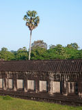 The surrounding wall of Angkor Wat, Cambodia Stock Images