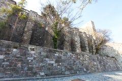 Surrounding wall of Buda Castle, Budapest, Hungary Stock Photo