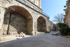Surrounding wall of Buda Castle, Budapest, Hungary Royalty Free Stock Image