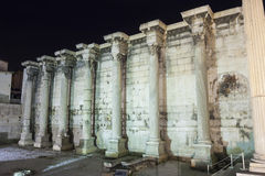 Surrounding wall of Hadrian library Royalty Free Stock Photography