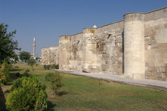 Surrounding Wall And Minaret Stock Image