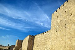 Old Jerusalem City Wall Royalty Free Stock Image