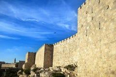 Old Jerusalem City Wall Royalty Free Stock Photo