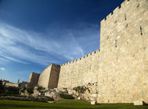 Old Jerusalem City Wall Stock Photography