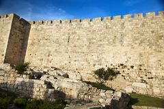 Old Jerusalem City Wall Royalty Free Stock Photo