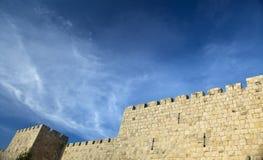 Old Jerusalem City Wall Stock Photography