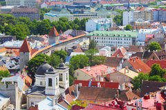 Surrounding wall of old Tallinn Royalty Free Stock Photo