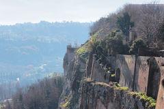 Surrounding walls in Orvieto Stock Images