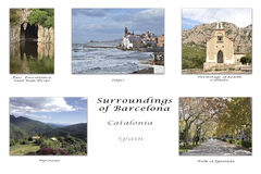 Surroundings of Barcelona. Interesting details of some towns in Barcelona Stock Photography
