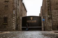 Surroundings of Guinness Storehouse, the brewery experience telling the tale of Ireland`s famous beer on St James`s Gate. April 12th, 2018, Dublin, Ireland Royalty Free Stock Photography