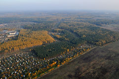 Surroundings Kovrov town in autumn Royalty Free Stock Images