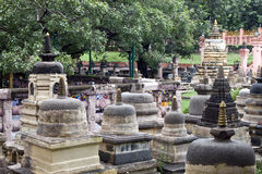 Surroundings of Mahabodhi temple in Bodhgaya Royalty Free Stock Photos