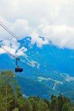 Surroundings of ski resort Rosa Khutor in summer Royalty Free Stock Photo