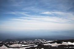Surroundinngs del monte Etna, Sicilia fotografía de archivo libre de regalías