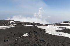 Surroundinngs del monte Etna, Sicilia fotos de archivo libres de regalías