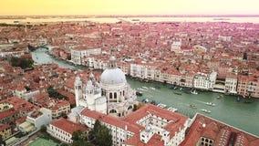 Surrvideo - flyg- sikt av Venedig Italien lager videofilmer