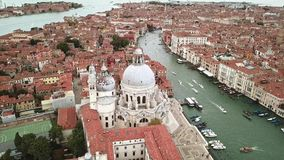 Surrvideo - flyg- sikt av Venedig Italien stock video