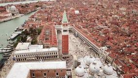 Surrvideo - flyg- sikt av Venedig Italien arkivfilmer