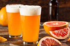Surt grapefrukthantverköl arkivfoton