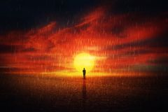 surt regn Jord 2118 royaltyfri foto