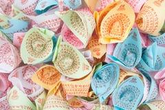 Surtido colorido de papel del ídolo chino Imagenes de archivo
