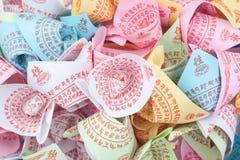 Surtido colorido de papel del ídolo chino Fotos de archivo libres de regalías