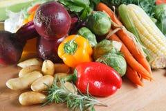 Surtido colorido de verduras sin procesar frescas Imágenes de archivo libres de regalías