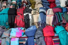 Surtido de bufandas Imágenes de archivo libres de regalías