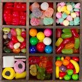 Surtido de caramelo para un fondo Fotografía de archivo libre de regalías