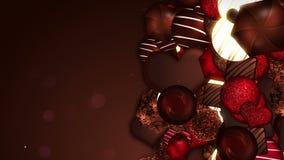 Surtido de caramelos de chocolate dulce D?a del `s de la tarjeta del d?a de San Valent?n Animaci?n del lazo